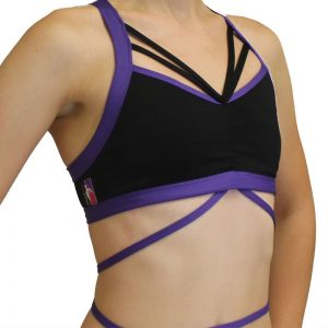 BUTTERFLY-POLEFIT-TOP-Black-Purple
