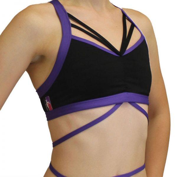 BUTTERFLY-POLEFIT-TOP-Black-Purple